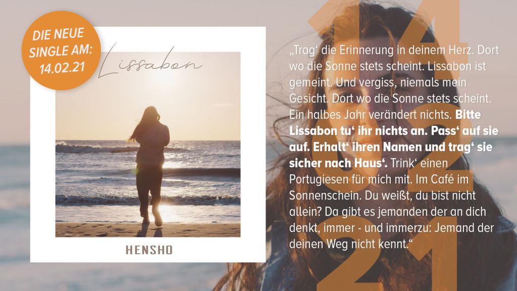 Lissabon von HENSHO ist eine wunderschöne Ballade.